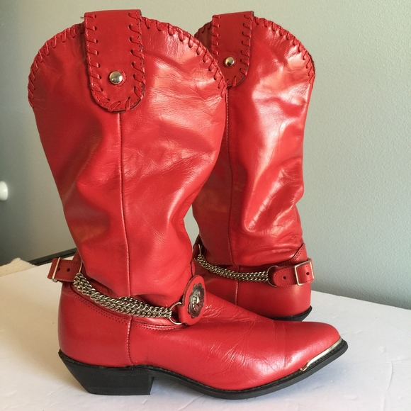 1ae3af22cbb DINGO RED LEATHER slouch western boots